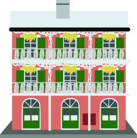 bourbon street: Use this building for a Bourbon Street souvenir project.