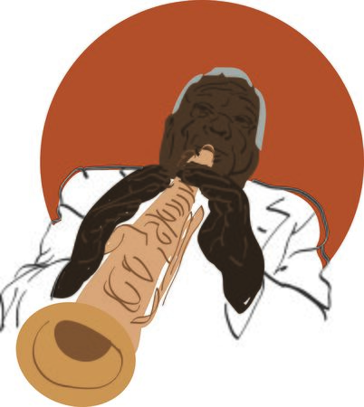 jazzy: Use this famous clarinetist for a jazzy musician friend. Illustration