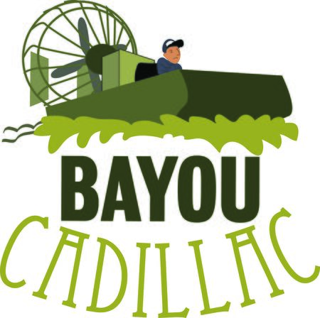 bayou swamp: Use this swampy airboat for any bayou native.