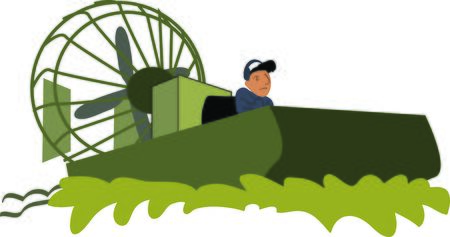 bayou: Use this swampy airboat for any bayou native.