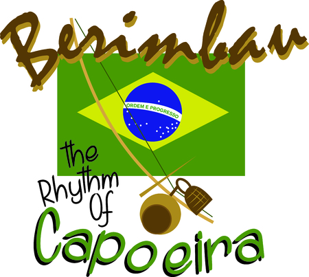 Grab berimbau and enjoy the beach.  Use this image to remember that wonderful day!