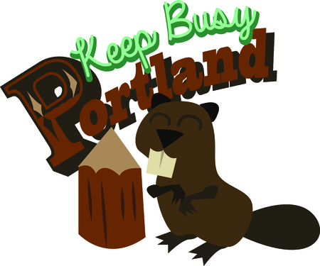 story time: This cute beaver is perfect in a toddler room or nursery.  Use it for story time.