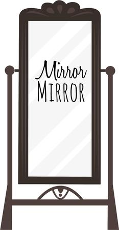 conceit: Add a pretty mirror to your home dcor.