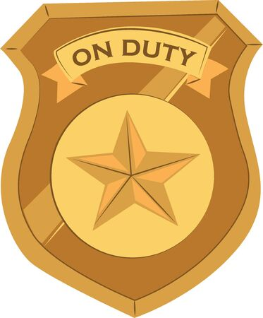 Make a special shirt for an officer. Illusztráció