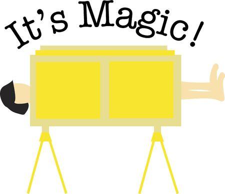 Zauberkünstler lieben einen großen klassischen Zaubertrick. Standard-Bild - 44862761