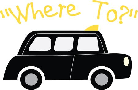 motor de carro: Jazz encima de su taxi con cl�sico taxi negro.