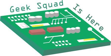 data processor: Tech geeks will love a circuit board on a t-shirt.