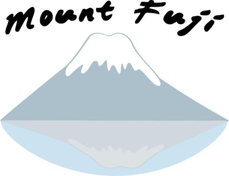 bluff: Mount Fuji is a classic symbol of Japan and is a great travelers design.