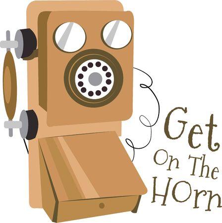 Décorez votre maison avec un téléphone vintage. Banque d'images - 44863383