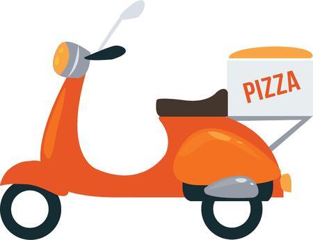 Tutti amano una consegna della pizza. Archivio Fotografico - 44863513