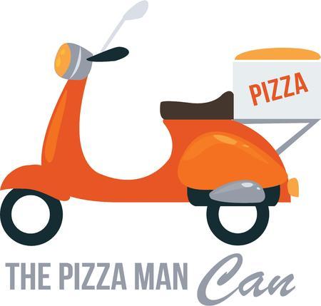 Tutti amano una consegna della pizza. Archivio Fotografico - 44863514