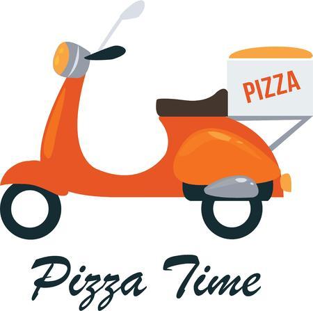 vespa: Everyone loves a pizza delivery.