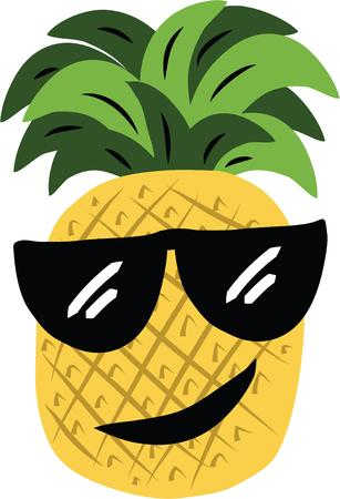 eye wear: Silly fruit will make a fun decoration for your kitchen. Illustration