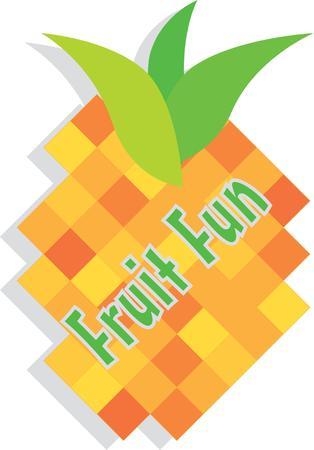 Fruit zal een leuke decoratie voor uw keuken te maken. Stock Illustratie