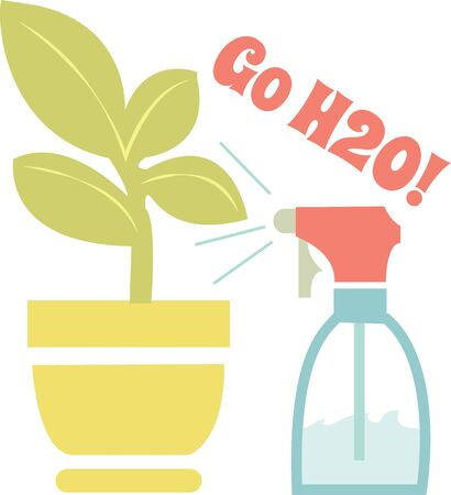 Watering house plants will give you a green thumb.