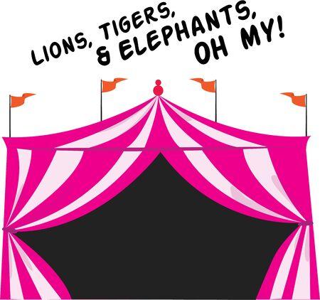 Machen Sie ein T-Shirt für einen Tag im Zirkus. Standard-Bild - 44864098