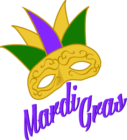 fat tuesday: Use this Mardi Gras mask for a Fat Tuesday celebration.