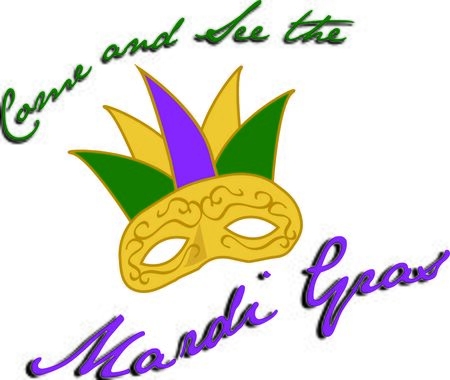 tuesday: Use this Mardi Gras mask for a Fat Tuesday celebration.
