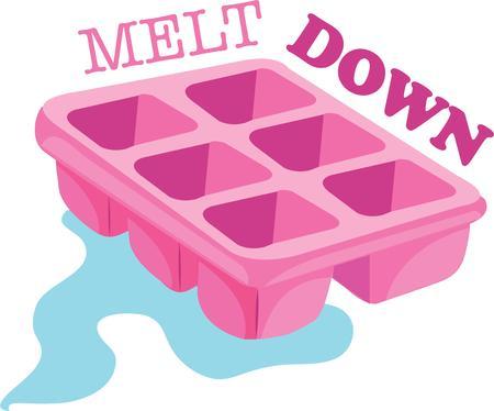 Keep your cool with a melting design on a t-shirt. Ilustração