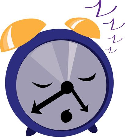 timepiece: A cute snooze clock will look cute on pajamas. Illustration