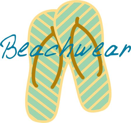 Put flip flops on your beach tote to take to the seaside.