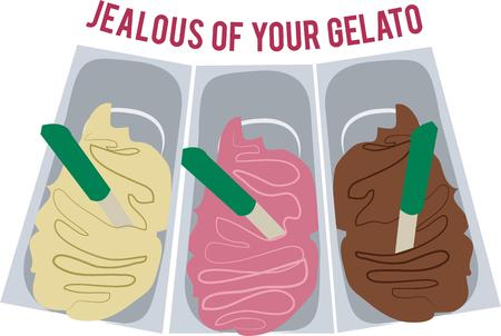 gelato: Everyone loves ice cream.  Let them pick their favorite flavor.