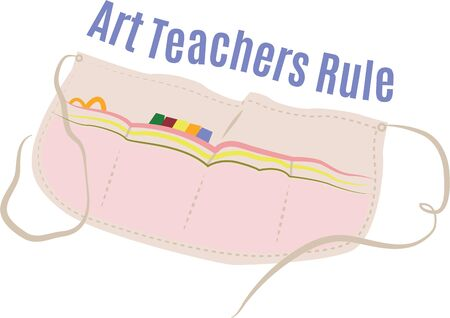 Crafters will love a great apron for their supplies.