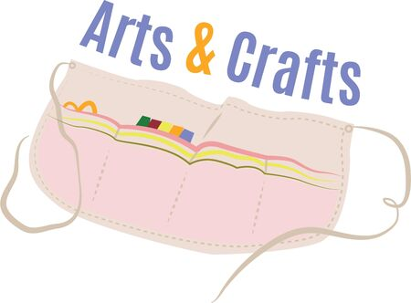knutsel spullen: Crafters will love a great apron for their supplies.