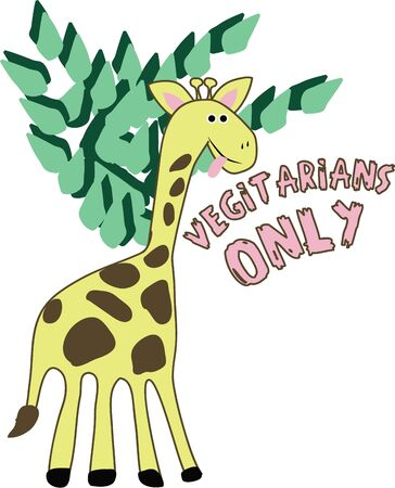 A giraffe will make a wonderful accent in a nursery. Ilustrace