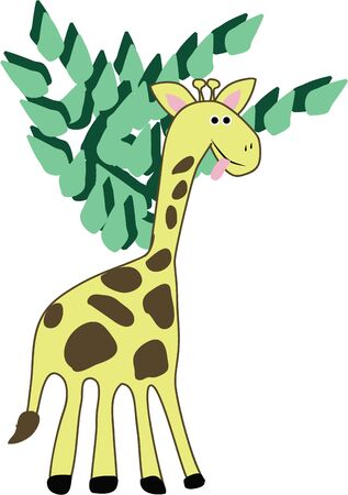 accent: A giraffe will make a wonderful accent in a nursery. Illustration