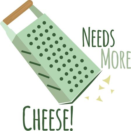 grater: Add a cheese grater to your kitchen decor. Illustration