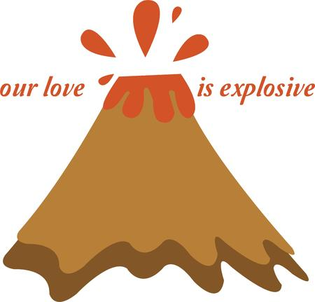 Have a hot flash with a volcano.