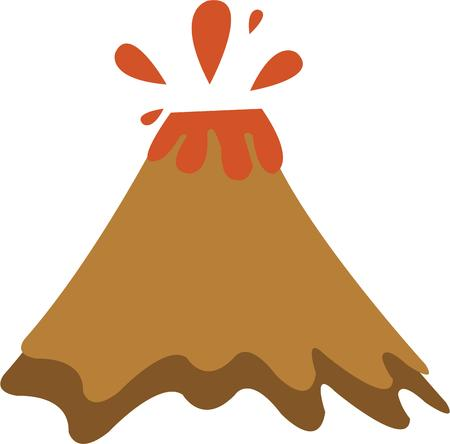volcano mountain erupting: Have a hot flash with a volcano.