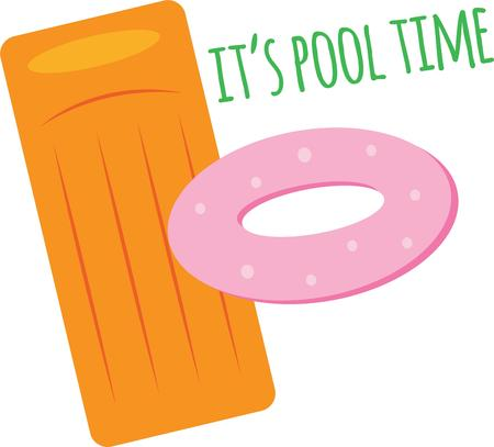Play at the pool with these floats. Illustration