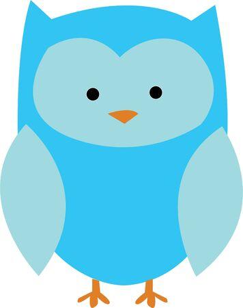 かわいいフクロウは、少年プロジェクトの素晴らしいデザインです。  イラスト・ベクター素材