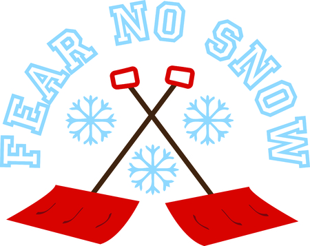 sweats: Use this snowflakes and shovels to share a Northerner rite of passage on sweats.
