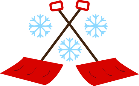Use this snowflakes and shovels to share a Northerner rite of passage on sweats.