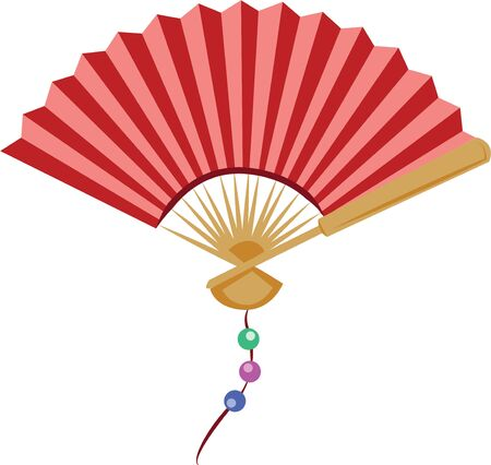 chill out: A fan will make a nice accent on a handkerchief.