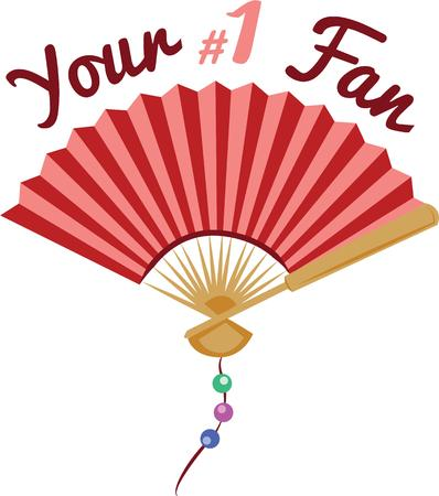 A fan will make a nice accent on a handkerchief.