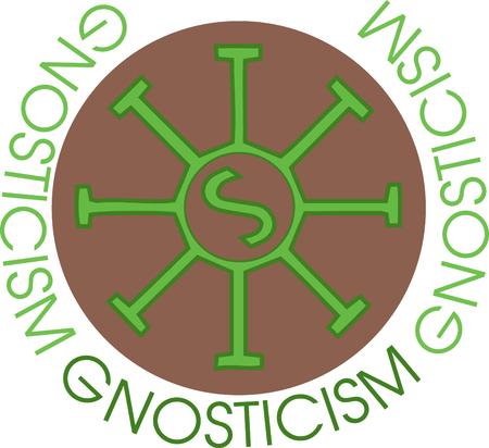 gnostic: Use this gnostic sun wheel in your next design.