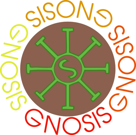 gnostic: Use this gnostic sun wheel in your next design.