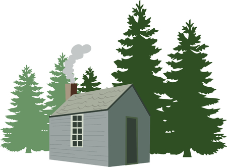 Use this Life in the Woods of Henry David Thoreau in your next design. Stock Illustratie