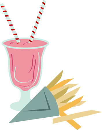 Everyone enjoys a milkshake on a hot summer day.  Grab this image for your next design.
