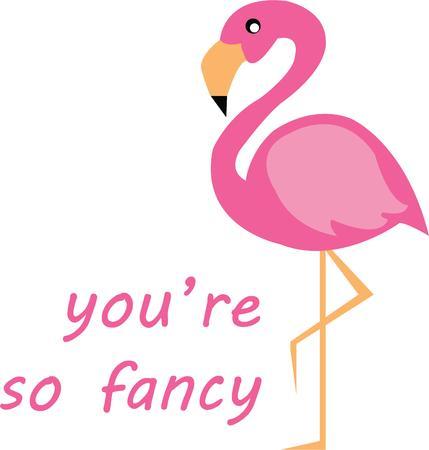 flamingi: Flamingos are a classic summer decoration. Ilustracja