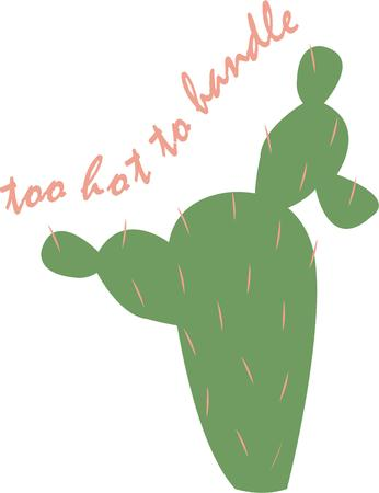 Accent a southwest project with a cactus.