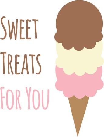 sherbet: Ice cream is a great treat at any time.