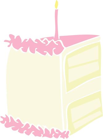 Give some delicious cake to someone for their birthday. Ilustração