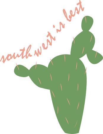 saguaro: Accent a southwest project with a cactus.