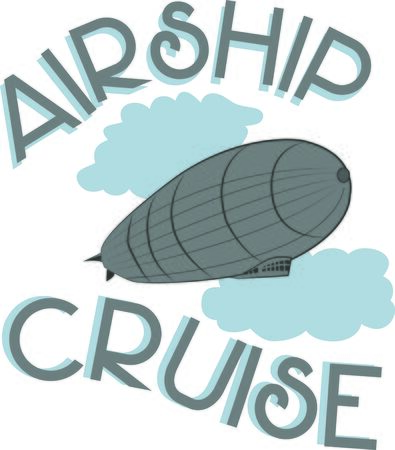blimp: This Zeppelin design will look trendy on a shirt or bag for your favorite hipster. Illustration