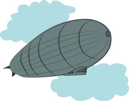 This Zeppelin design will look trendy on a shirt or bag for your favorite hipster. Çizim